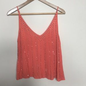 Intimately Free People Coral Beaded Crop Top Cami